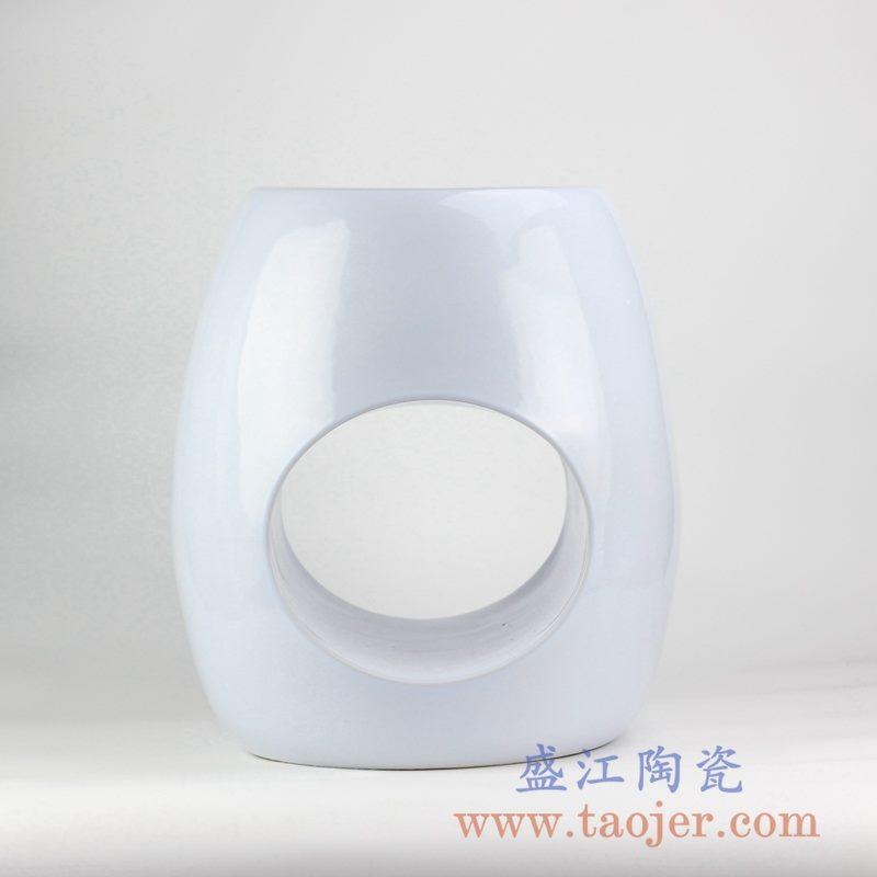 RYIR119-C_定做定制白色通孔异形凉凳花园凳陶瓷墩吧台凳