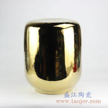RYNQ144-B_颜色釉镀金金色凉凳花园凳浴室换鞋凳陶瓷墩