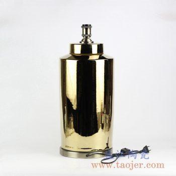 DS92-RYNQ184-G_镀金陶瓷罐装饰台灯 现代简约风格家居装饰摆件 卧室客厅餐厅照明台灯