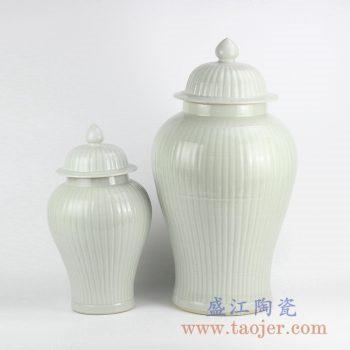 RYMA99-B_景德镇白色陶瓷将军罐摆件 储物罐 现代简约风格落地摆件 大小号