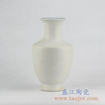 RYUJ19-D_景德镇哑光陶瓷花瓶摆件 自然古朴风格素胎花瓶 现代插花茶室客厅装饰品