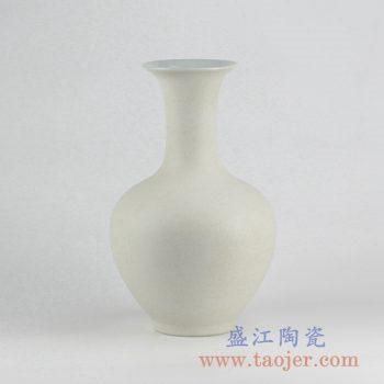 RYUJ19-E_哑光陶瓷花瓶摆件 自然古朴风格 现代插花茶室客厅玄关装饰品