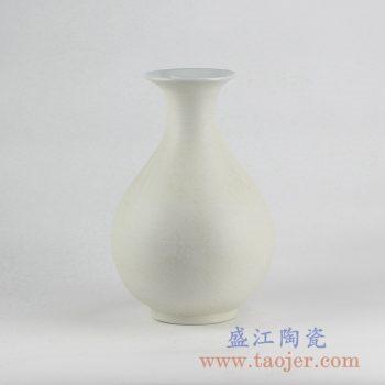 RYUJ19-G_哑光陶瓷花瓶 素胎自然古朴风格花瓶摆件 现代插花茶室装饰品
