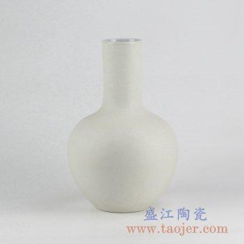 RYUJ19-H_景德镇哑光陶瓷花瓶 自然古朴风格花瓶摆件 现代家居装饰品