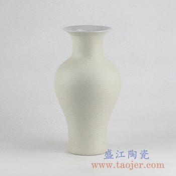 RYUJ19-J_景德镇哑光陶瓷花瓶 自然古朴风格花瓶摆件 茶室插花装饰品