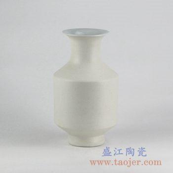 RYUJ19-k_景德镇哑光陶瓷花瓶 自然古朴风格花瓶摆件 现代插花茶室装饰品