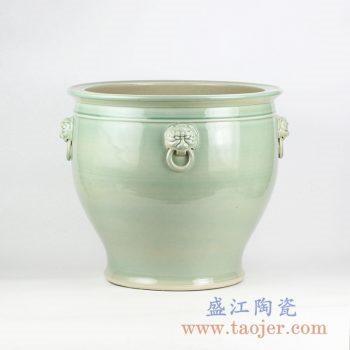 RZFH10-B_景德镇青釉陶瓷大水缸 大花盆 大件庭院户外装饰陶瓷摆件