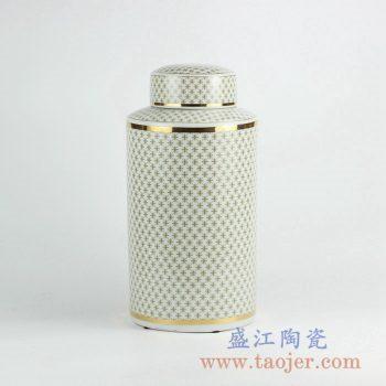 RZKA161302_现代家居装饰摆件 直筒陶瓷罐 茶叶罐 储物罐 简约风格
