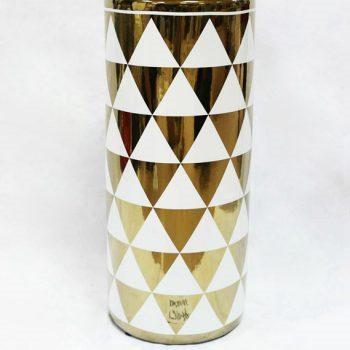 RZKA171034_现代三角形图案花瓶摆件 家居装饰陶瓷 简约风格 镀金
