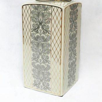 RZKA171162_陶瓷茶叶罐 彩绘茶叶罐摆件 美式乡村 陶瓷储物罐摆件 欧式摆件
