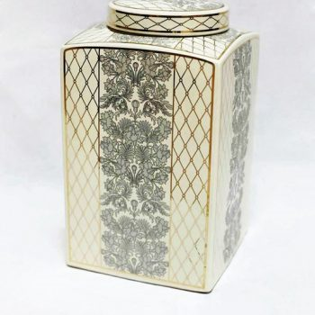 RZKA171163_陶瓷茶叶罐 彩绘茶叶罐摆件 美式乡村 陶瓷储物罐摆件 欧式摆件
