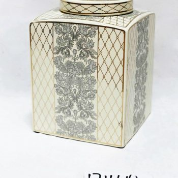 RZKA171164_陶瓷茶叶罐 彩绘茶叶罐摆件 美式乡村 陶瓷储物罐摆件 欧式摆件