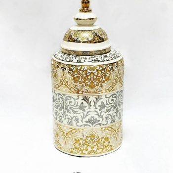 RZKA171169_描金花卉图案陶瓷茶叶罐  装饰摆件 家居装饰