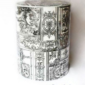 RZKA171302    灰色直筒陶瓷凳凉墩花园凳浴室换鞋凳景德镇摆件