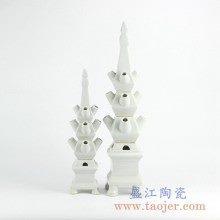 全白雕塑雕刻摆件品艺术陶瓷创意景德镇