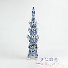 青花雕塑雕刻摆件品艺术陶瓷创意景德镇