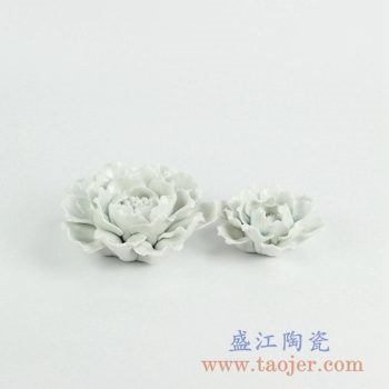 RZKW02   陶瓷花朵手工雕刻雕塑小饰品摆件景德镇