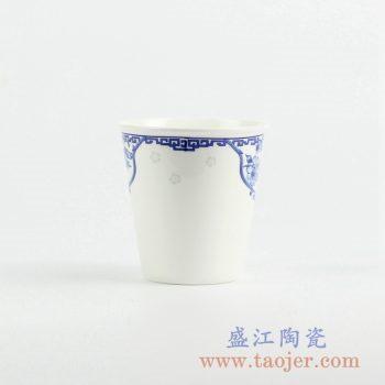 RZKX01-A   青花单杯水杯茶杯陶瓷茶具茶器景德镇