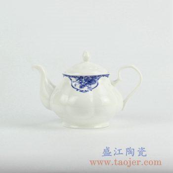 RZKX01-B   青花骨瓷茶壶凉水壶茶具陶瓷器景德镇创意
