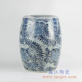 RZKY01  青花花卉陶瓷凳凉墩花园凳换鞋凳景德镇陶瓷