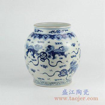RZKY09  手绘青花龙陶瓷罐花瓶花插景德镇艺术摆件品
