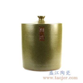 shengjiangdingzhi-RZJK03_景德镇茶叶末颜色釉陶瓷盖罐 储物罐 茶叶罐 大号收纳罐