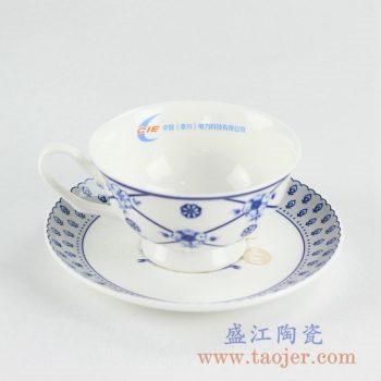 RYIJ05-B   青花咖啡杯碟整套盛江陶瓷定做定制