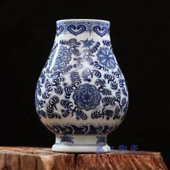 RZFQ24    陶瓷器高档手绘摆件 客厅玄关中式仿古青花瓷
