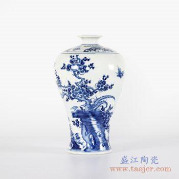 RYCI42-B    仿古手绘花鸟梅瓶花瓶花插