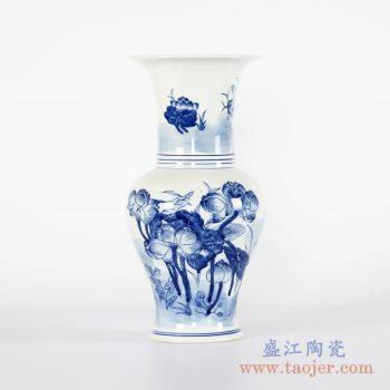 RYCI43-A   手绘青花荷花花瓶花插