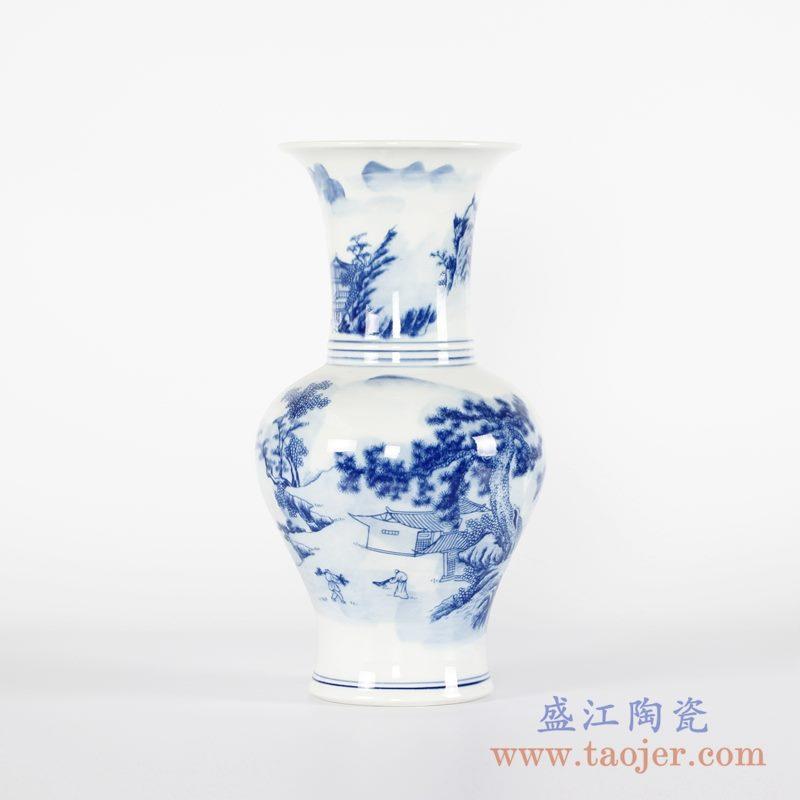 RYCI43-B 手绘青花楼阁花瓶花插