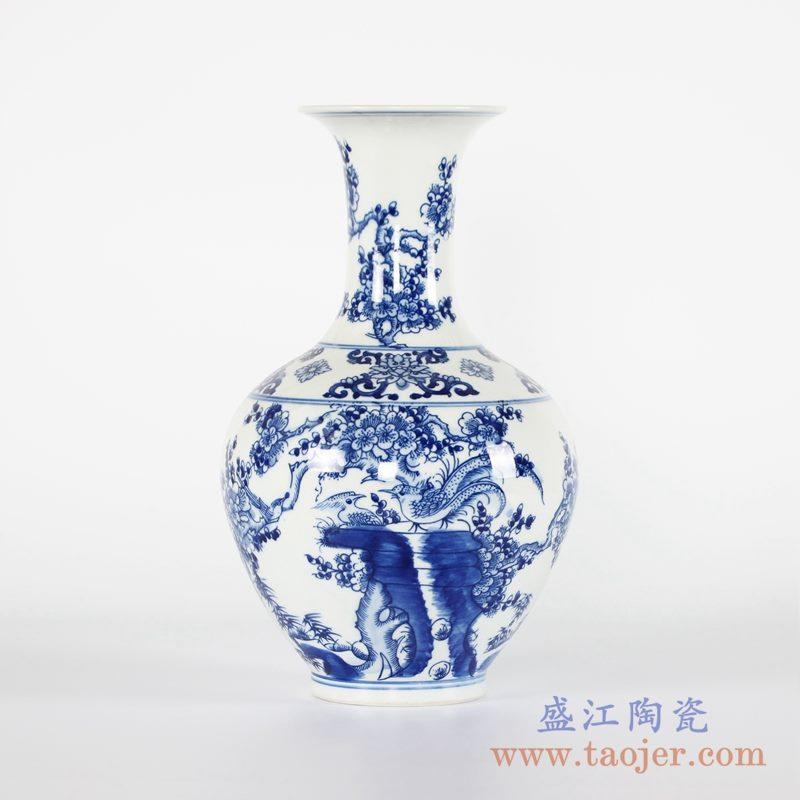 RYCI44-A 手绘青花花鸟花瓶