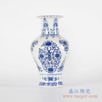 RYCI47-A    手绘青花寿字缠枝花瓶花插