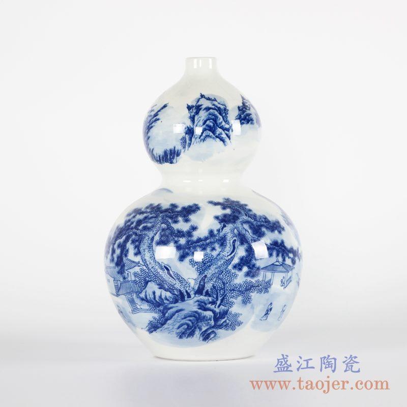 RYCI50-A 青花山水葫芦瓶花瓶