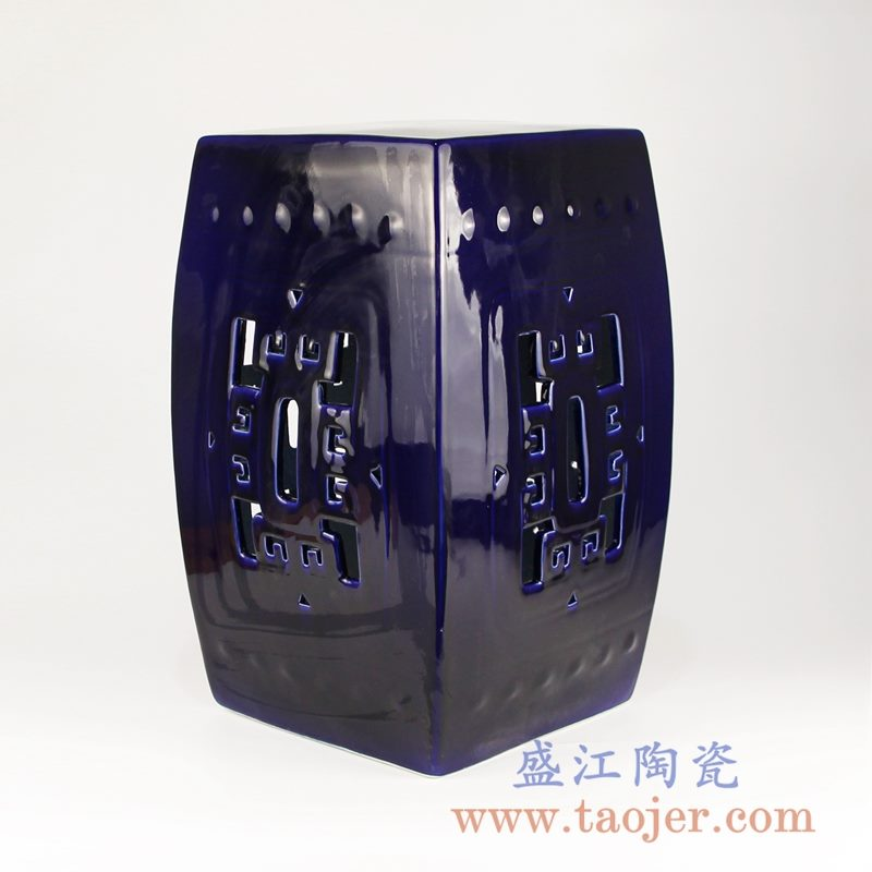 RZKL02-B北欧风格边角几陶瓷凳子凉凳化妆凳