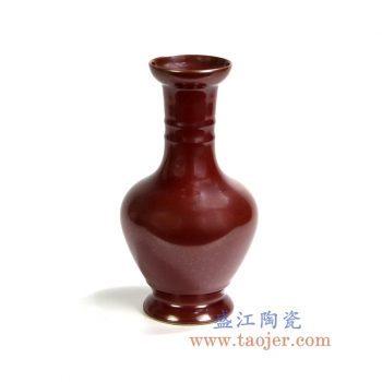 RYPM35   鸡血红釉花瓶花插