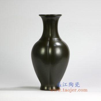 RYPM42    茶叶末釉花瓶花插仿古雕刻