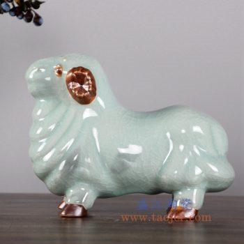 RZFW06   影青开片羊陶瓷摆件品
