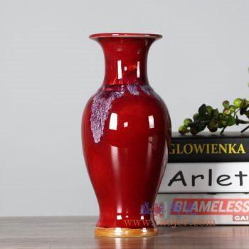 RZFW23    颜色釉红釉赏瓶花瓶花插