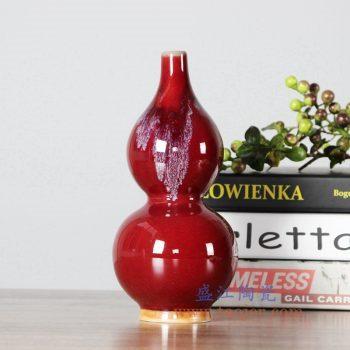 RZFW22   颜色釉红釉葫芦瓶花瓶花插