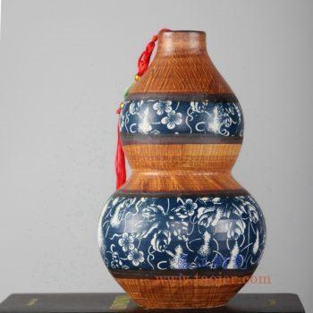 RZLJ03    陶艺陶瓷葫芦花瓶花插摆件品