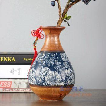 RZLJ04 陶艺陶瓷玉壶春花瓶花插摆件品