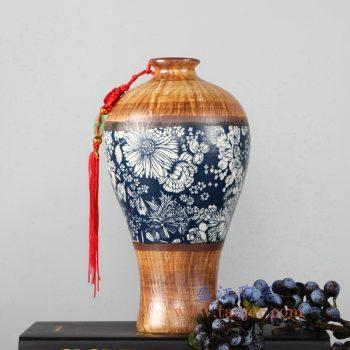 RZLJ05 陶艺陶瓷梅瓶花瓶花插摆件品