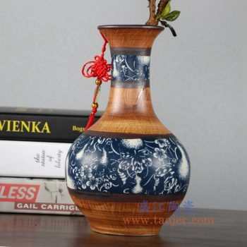 RZLJ06    陶艺陶瓷赏瓶花瓶花插摆件品