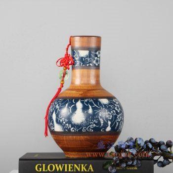 RZLJ07    陶艺陶瓷天球瓶花瓶花插摆件品