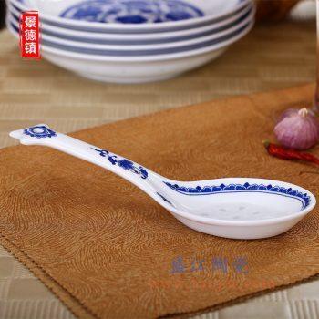 RZLL07    青花玲珑陶瓷大勺汤勺家居用瓷