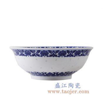 RZLL08-5     青花玲珑陶瓷汤碗菜碗餐具家居用瓷