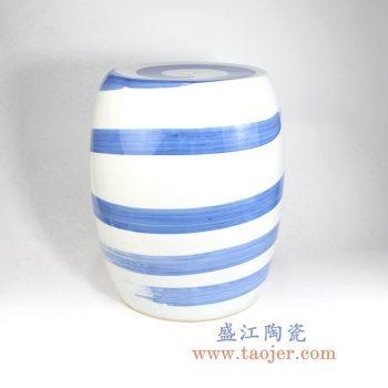 RYLL43    青花条纹陶瓷凳凉墩花园凳
