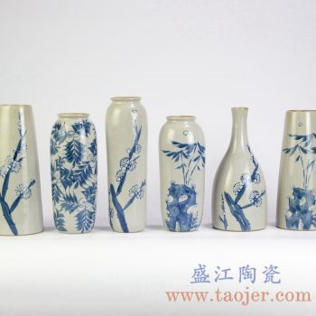 RZMB01    手绘青花小花瓶花插景德镇陶瓷瓷器手工瓷器
