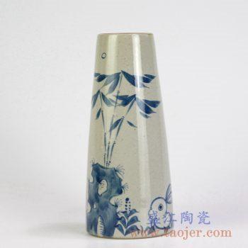 RZMB01-A    手绘青花竹子花瓶花插景德镇陶瓷瓷器手工瓷器